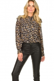 Sofie Schnoor |  Floral blouse Mai | black  | Picture 2