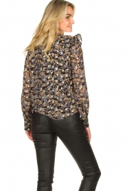 Sofie Schnoor |  Floral blouse Mai | black  | Picture 7