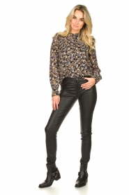 Sofie Schnoor |  Floral blouse Mai | black  | Picture 3