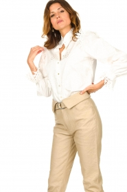 Sofie Schnoor |  Broderie blouse Feliciti | white  | Picture 7