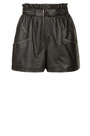 Ibana |  Leather short Sachi | black