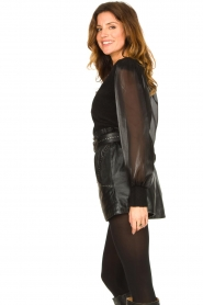 Ibana |  Leather short Sachi | black  | Picture 6