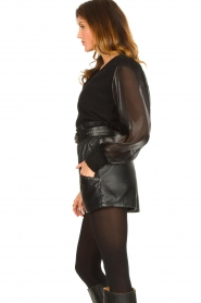 Ibana |  Leather short Sachi | black  | Picture 5