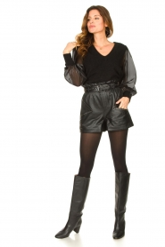 Ibana |  Leather short Sachi | black  | Picture 3