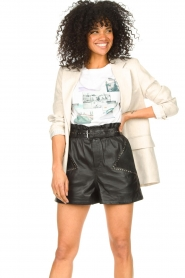 Ibana |  Leather short Sachi | black  | Picture 2