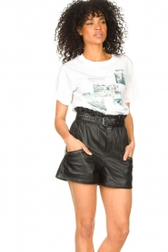 Ibana |  Leather short Sachi | black  | Picture 7