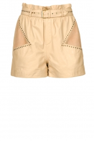 Ibana |  Leather short Sachi | beige  | Picture 1