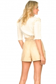 Ibana    Leather short Sachi   beige    Picture 6