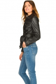 Ibana |  Leather jacket with studs Jannice | black  | Picture 6