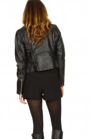 Ibana |  Croc print leather jacket Bella | black  | Picture 6