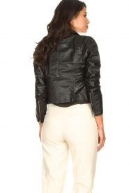 Ibana |  Croc print leather jacket Bella | black  | Picture 7