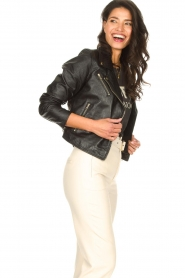 Ibana |  Croc print leather jacket Bella | black  | Picture 5