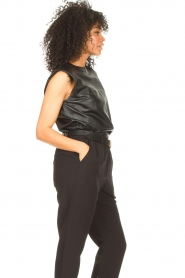 Ibana |  Leather top with shoulder padding Trixy | black  | Picture 6