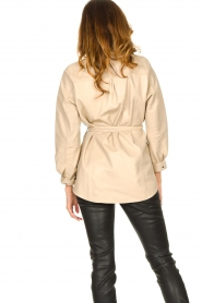 Ibana |  Leather blouse Ted | beige  | Picture 7