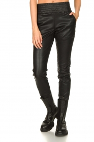 Ibana |  Leather pants Colette | black  | Picture 5