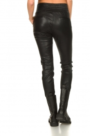 Ibana |  Leather pants Colette | black  | Picture 8