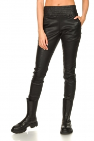 Ibana |  Leather pants Colette | black  | Picture 6