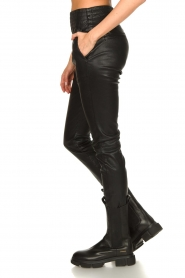 Ibana |  Leather pants Colette | black  | Picture 7