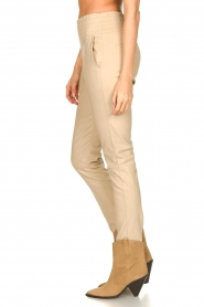 Ibana |  Leather pants Colette | beige  | Picture 6
