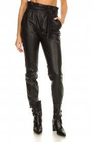 Dante 6 |  Faux leather pants Duncan | black  | Picture 4