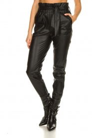 Dante 6 |  Faux leather pants Duncan | black  | Picture 5