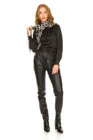 Dante 6 |  Faux leather pants Duncan | black  | Picture 3