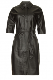 Dante 6 |  Faux leather dress Baroon | black  | Picture 1