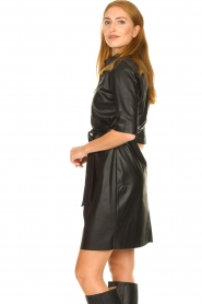 Dante 6 |  Faux leather midi dress Baroon | black  | Picture 5