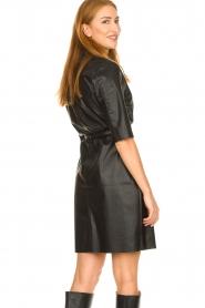 Dante 6 |  Faux leather midi dress Baroon | black  | Picture 6