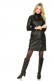 Dante 6 :  Faux leather dress Baroon | black - img3