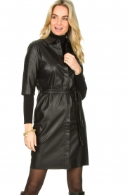 Dante 6 :  Faux leather dress Baroon | black - img4