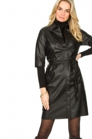 Dante 6 :  Faux leather dress Baroon | black - img2