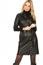 Dante 6 :  Faux leather dress Baroon | black - img5