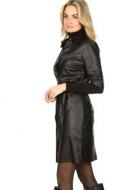Dante 6 :  Faux leather dress Baroon | black - img6
