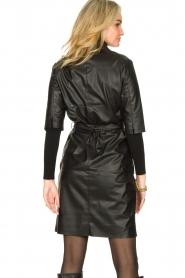 Dante 6 |  Faux leather dress Baroon | black  | Picture 7