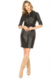 Dante 6 |  Faux leather dress Baroon | black  | Picture 3