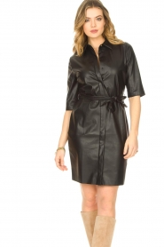 Dante 6 |  Faux leather dress Baroon | black  | Picture 4