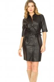 Dante 6 |  Faux leather dress Baroon | black  | Picture 4