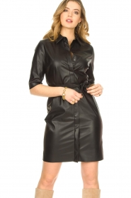 Dante 6 |  Faux leather dress Baroon | black  | Picture 2