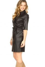 Dante 6 |  Faux leather dress Baroon | black  | Picture 5