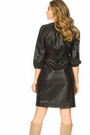 Dante 6 |  Faux leather dress Baroon | black  | Picture 6