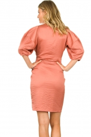 Notes Du Nord |  Puff sleeve dress Penelope | pink  | Picture 6