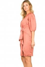 Notes Du Nord |  Puff sleeve dress Penelope | pink  | Picture 5