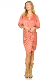 Notes Du Nord |  Puff sleeve dress Penelope | pink  | Picture 3