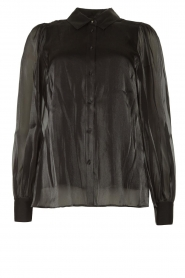 Dante 6 |  See-through blouse Mauri | black  | Picture 1