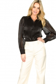 Dante 6 |  See-through blouse Mauri | black  | Picture 2