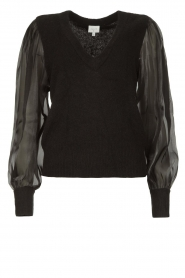 Dante 6 |  Sweater with see-through sleeves Joelle | black  | Picture 1