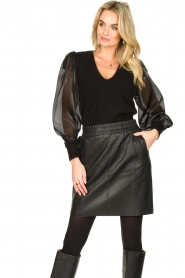 Dante 6 |  Sweater with see-through sleeves Joelle | black  | Picture 5