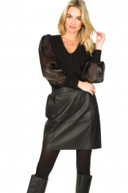 Dante 6 |  Sweater with see-through sleeves Joelle | black  | Picture 2