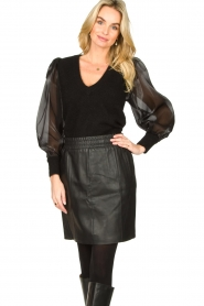 Dante 6 |  Sweater with see-through sleeves Joelle | black  | Picture 4